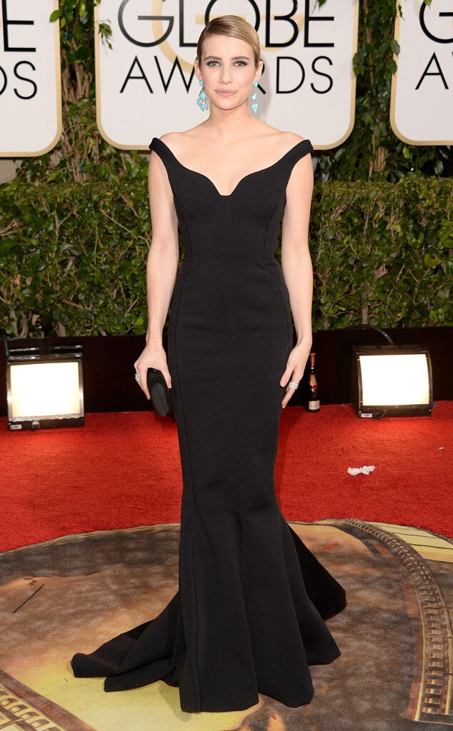 Emma Roberts, Golden Globes, 2014