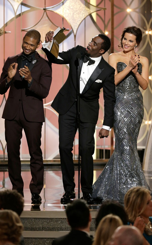 Usher, Sean Combs, Kate Beckinsale, Golden Globe Awards