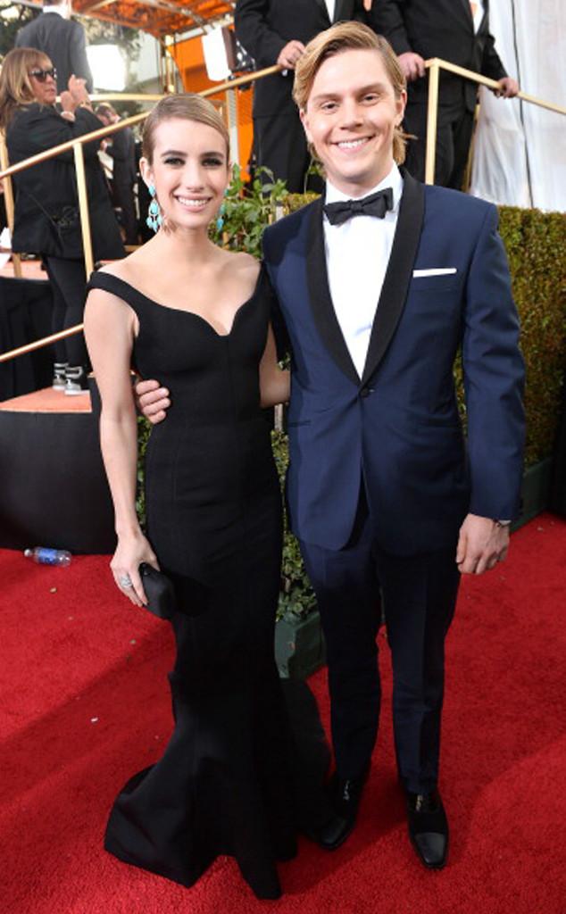 Emma Roberts, Evan Peters, Golden Globe Awards