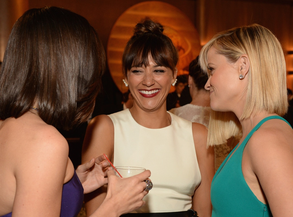 Aubrey Plaza, Rashida Jones, Reese Witherspoon, Golden Globes 2014