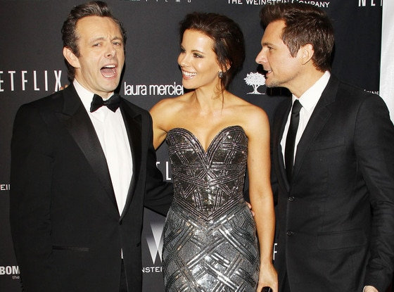 Michael Sheen, Kate Beckinsale, and Len Wiseman