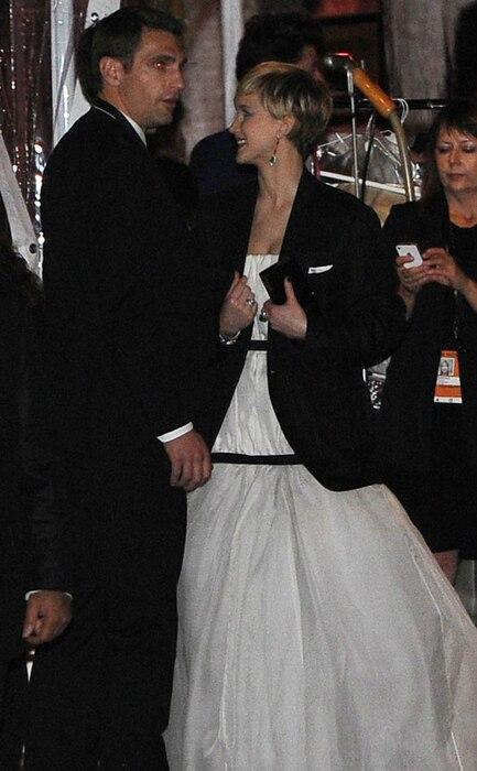 Jennifer Lawrence, Nicholas Hoult, Golden Globes