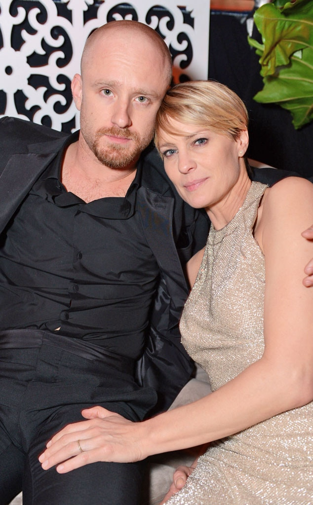 Ben Foster, Robin Wright, Golden Globes 2014 After Party