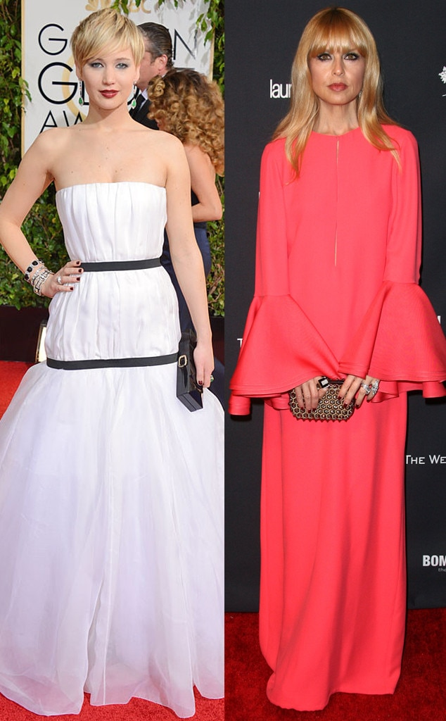 Jennifer Lawrence, Rachel Zoe, Golden Globes 2014