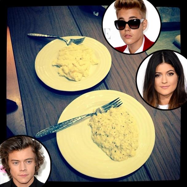 Justin Bieber, Harry Styles, Kylie Jenner, Eggs, Instagram
