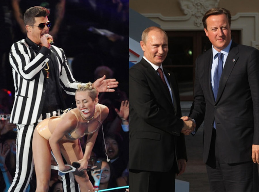 Robin Thicke, Miley Cyrus, David Cameron, Vladimir Putin