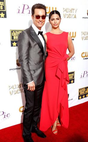 Matthew McConaughey, Camila Alves, Critics' Choice Movie Awards