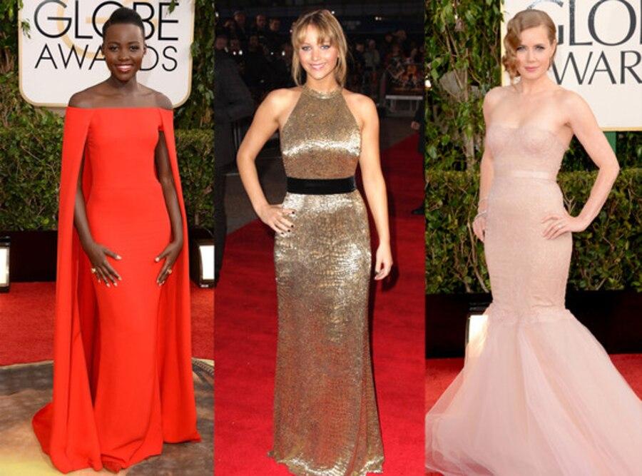Lupita Nyong'o, Amy Adams, Jennifer Lawrence
