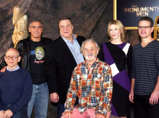 Bob Balaban, George Clooney, John Goodman, Bill Murray, Cate Blanchett, Matt Damon, The Monuments Men