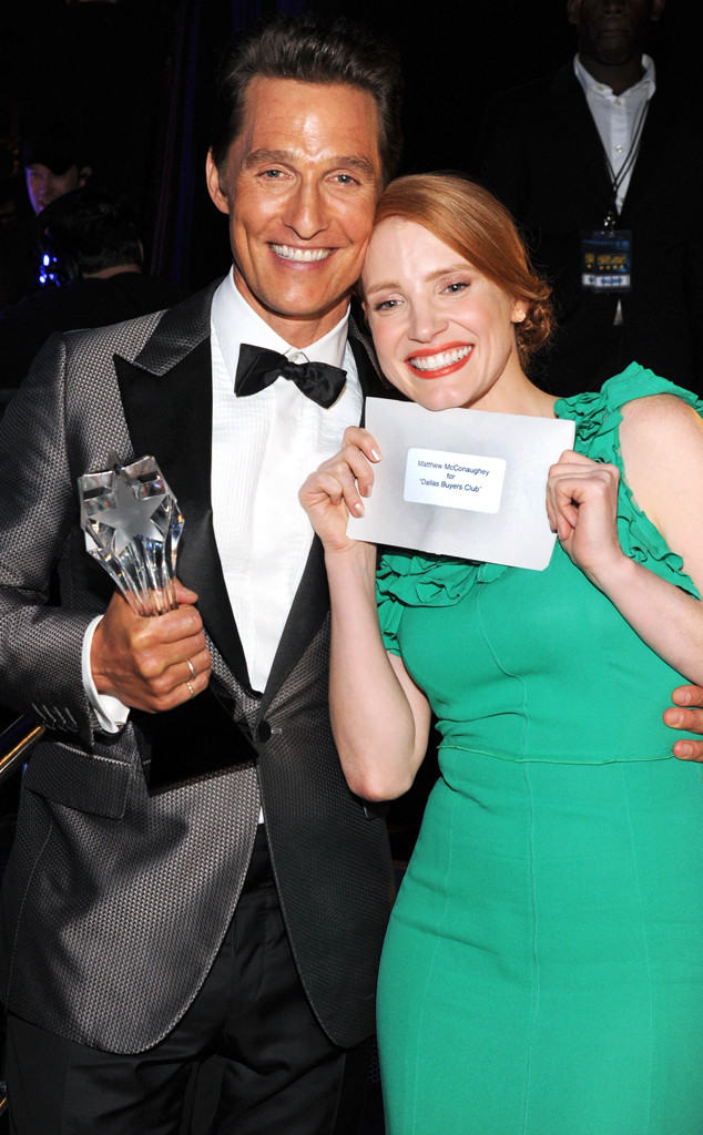 Matthew McConaughey, Jessica Chastain, Critics' Choice Movie Awards