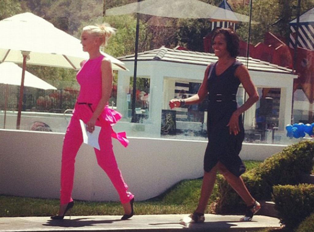Gwen Stefani, Michelle Obama, Twitter
