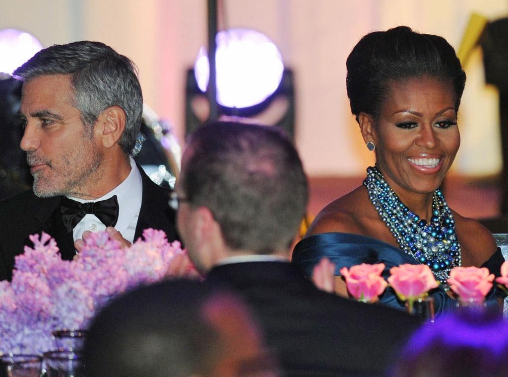George Clooney, Michelle Obama