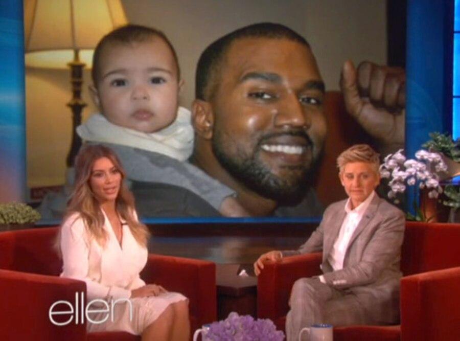 Kim Kardashian, Kanye West, North West, Ellen Degeneres, Ellen