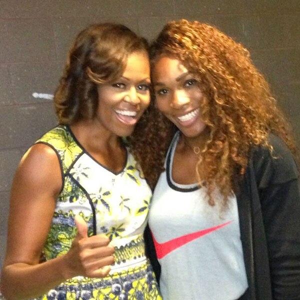 Michelle Obama, Serena Williams, Twitter