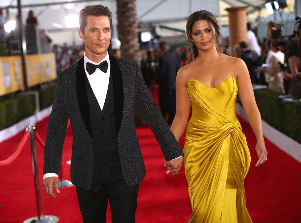Matthew McConaughey, Camila Alves McConaughey, SAG Candids