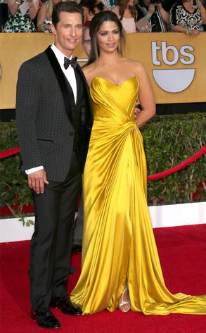 Matthew McConaughey, Camila Alves, SAG Awards