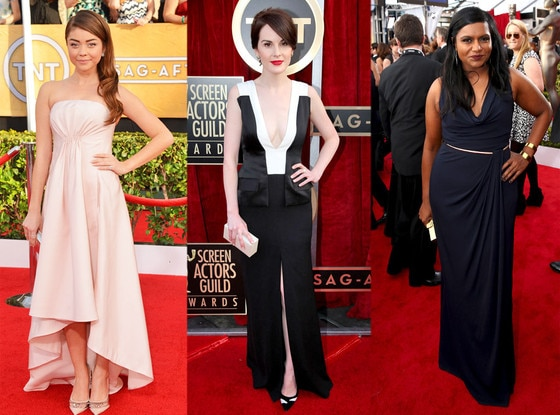 Sarah Hyland, Michelle Dockery, Mindy Kaling, SAG Awards