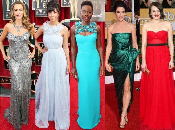 Best Dressed, Sofia Vergara, Hannah, Simone, Lupita Nyong'o, Sandra Bullock, Elisabeth Moss, SAG Awards