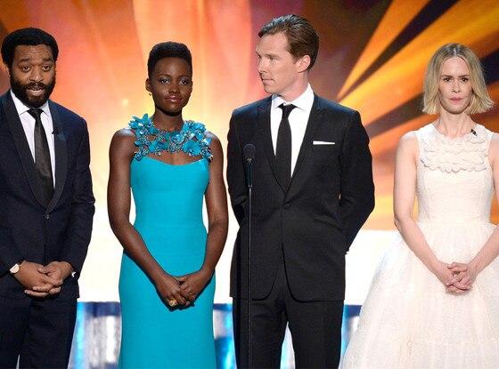 Chiwetel Ejiofor, Lupita Nyong'o, Benedict Cumberbatch, Sarah Paulson, SAG Awards