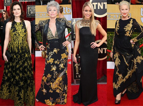 Black and Gold Dresses, SAG Awards