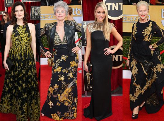 Black and Gold Dresses, SAG Awards