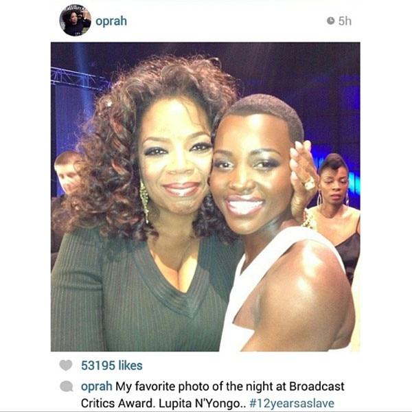 Oprah Winfrey, Lupita Instagram