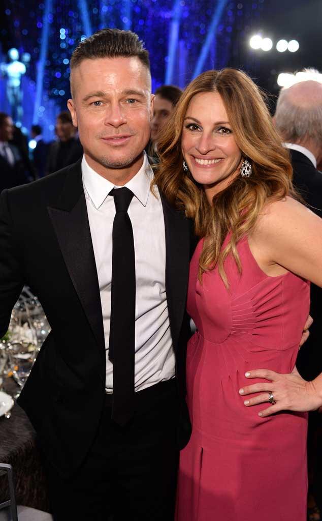Brad Pitt, Julia Roberts, SAG Candids