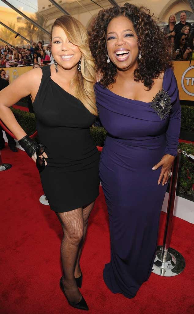 Mariah Carey, Oprah Winfrey, SAG Candids