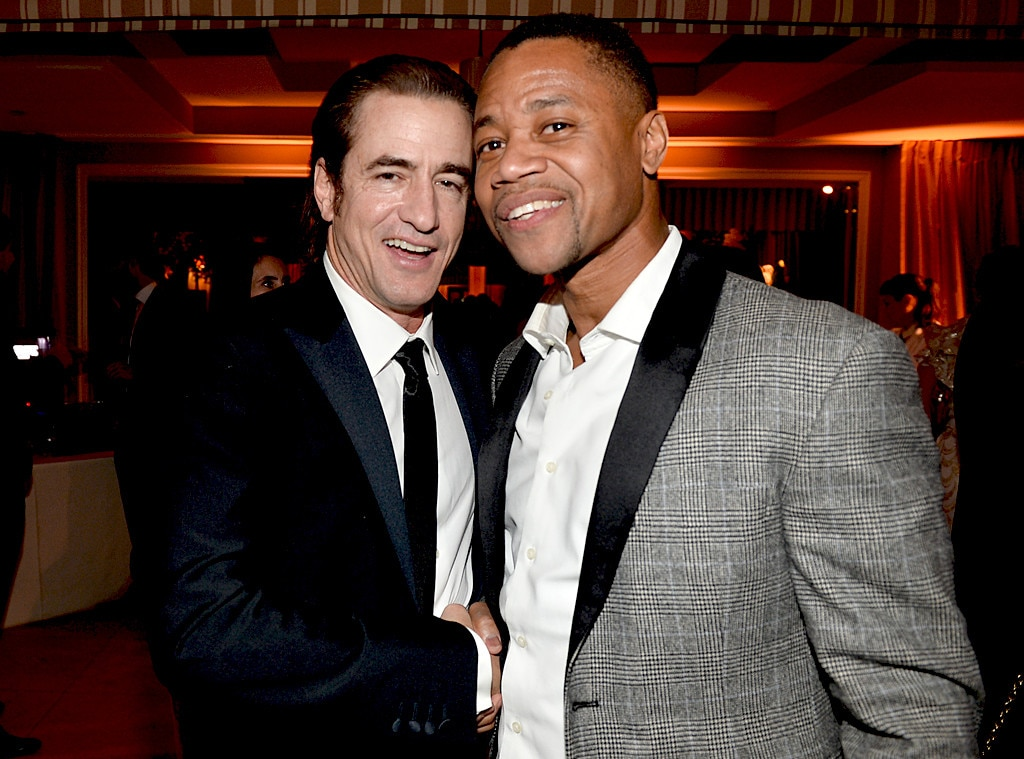 Dermot Mulroney, Cuba Gooding, Jr, SAG Parties