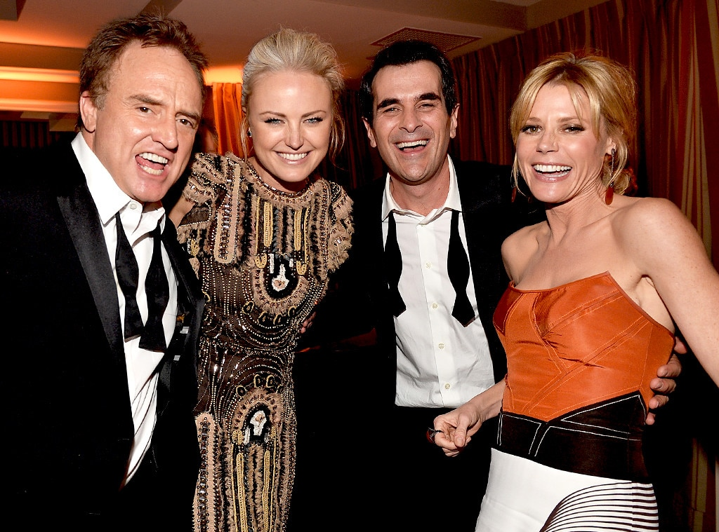 Bradley Whitford, Malin Akerman, Ty Burrell, and Julie Bowen, SAG Parties