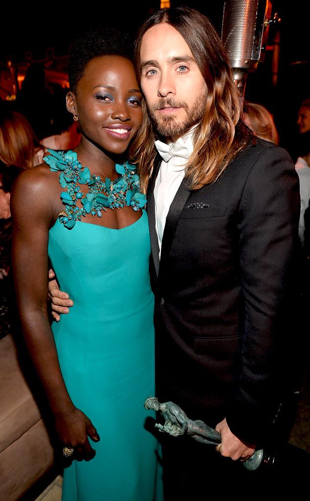 Lupita Nyong'o, Jared Leto, SAG Parties