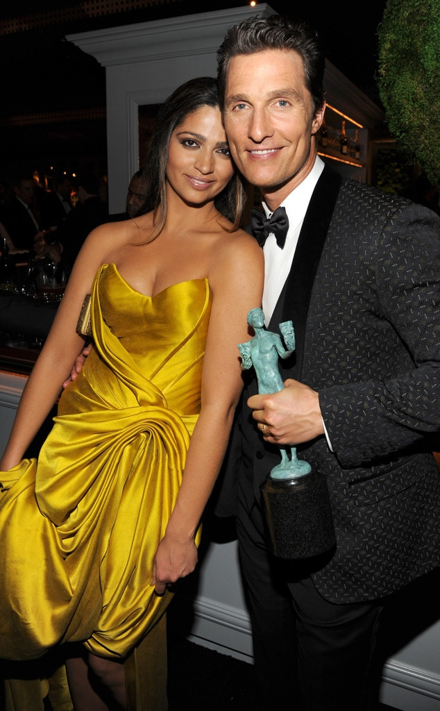 Camila Alves, Matthew McConaughey, SAG Parties