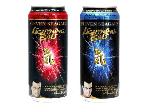 Steven Seagal Lightning Bolt energy drink