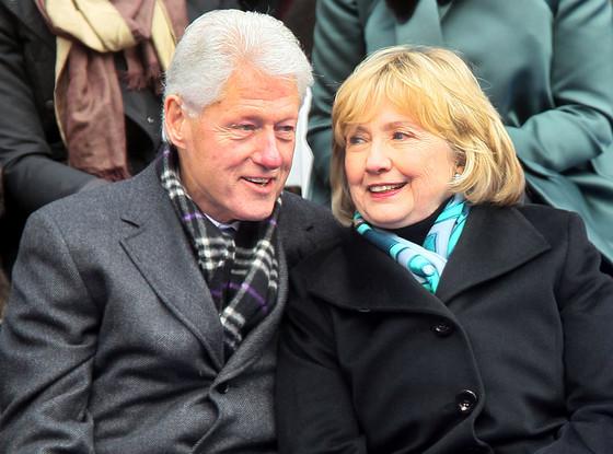 Bill Clinton, Hillary Clinton, Bangs