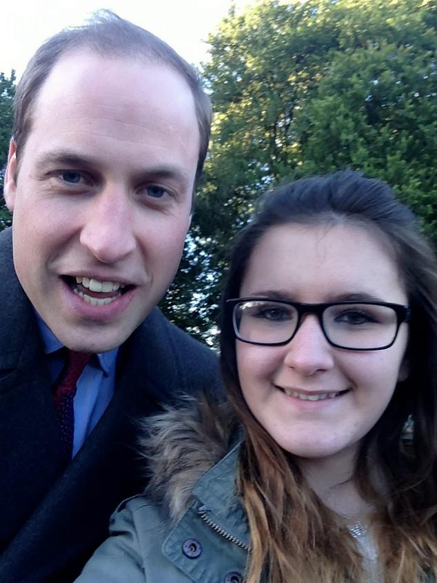 Prince William, School Girl, Selfie