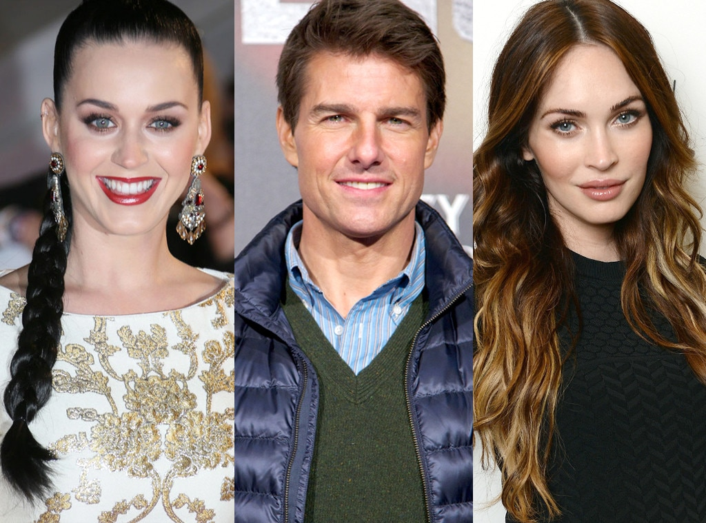 Katy Perry, Tom Cruise, Megan Fox