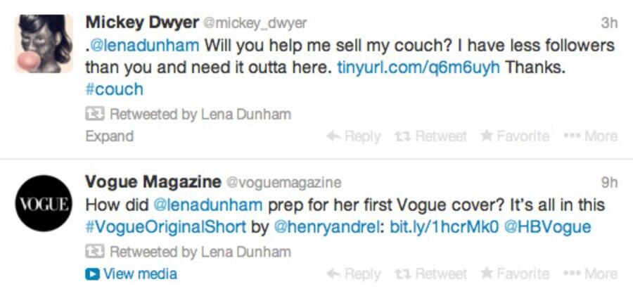 Craigslist, Lena Dunham