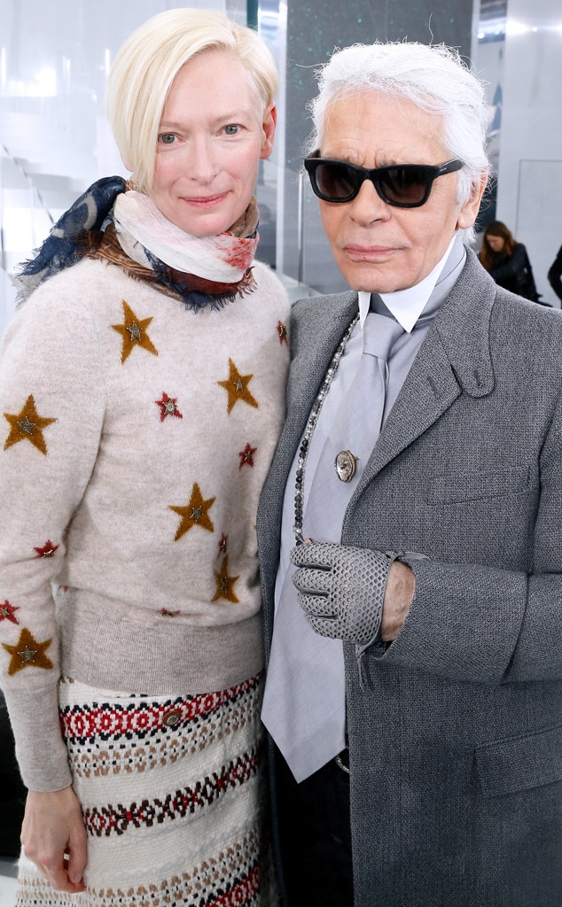 Tilda Swinton, Karl Lagerfeld, Paris Fashion Week