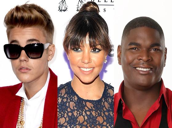 Kourtney Kardashian, Keyshawn Johnson, Justin Bieber