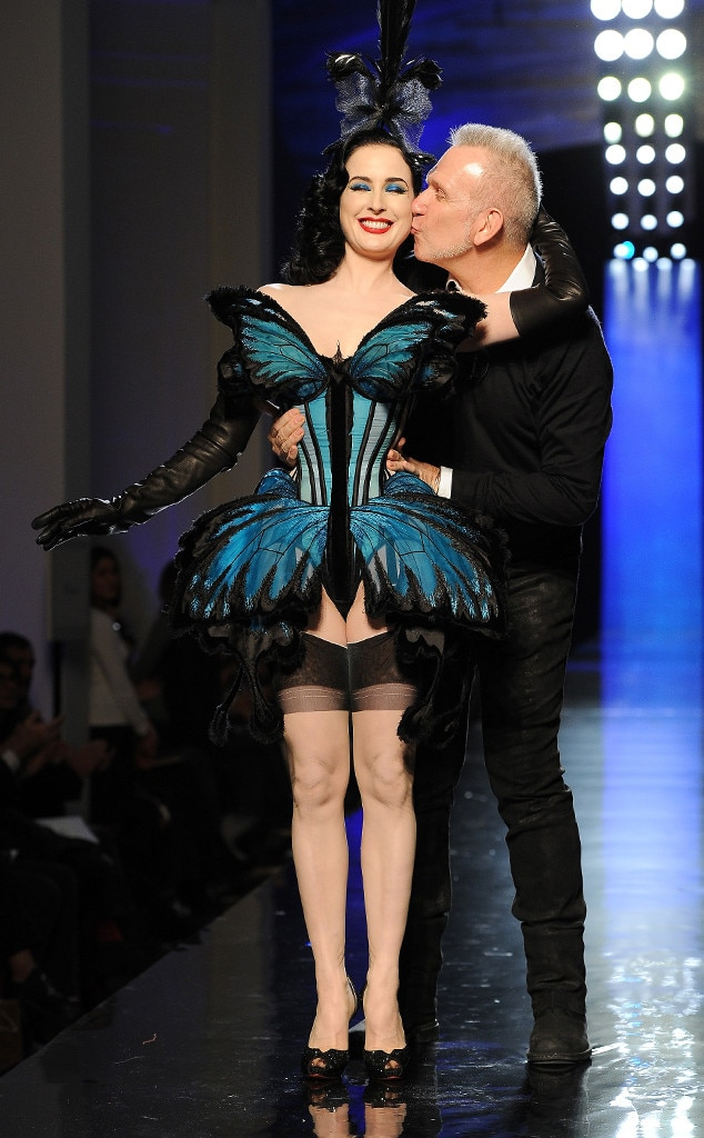 Jean Paul Gaultier, Dita Von Teese, Paris Fashion Week