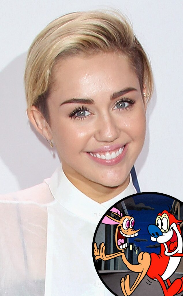 Miley Cyrus, Ren and Stimpy