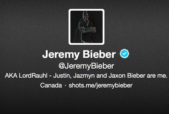 Jeremy Bieber, Twitter Profile