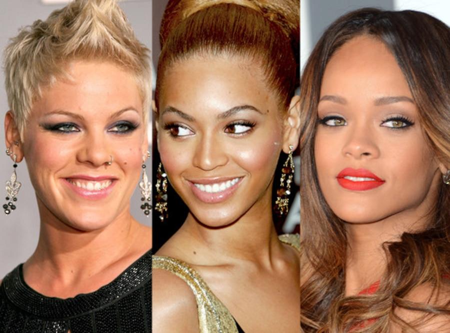Beyonce, Pink, Rihanna, Grammy Hair