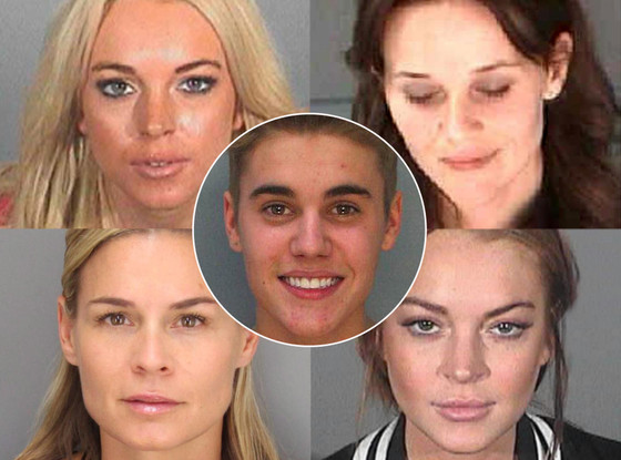 Justin Bieber, Reese Witherspoon, Cat Cora, Lindsay Lohan