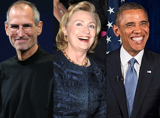 Steve Jobs, Hillary Clinton, Barack Obama