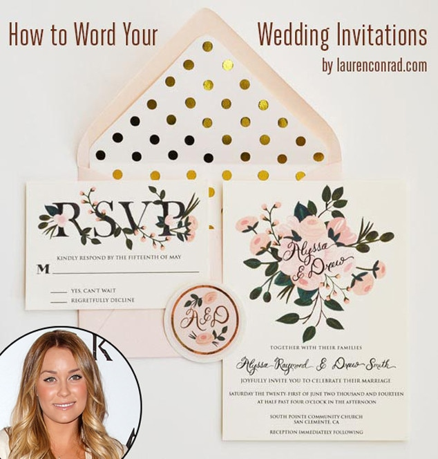Lauren Conrad, Wedding Invitations
