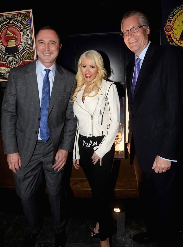 Glen Hauenstein, Christina Aguilera, Ed Bastian