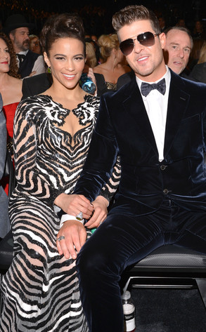 Paula Patton, Robin Thicke, Grammy's, Candids