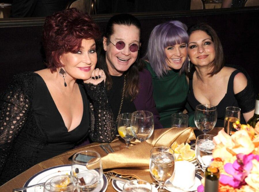 Sharon Osbourne, Ozzy Osbourne, Kelly Osbourne and Gloria Estefan