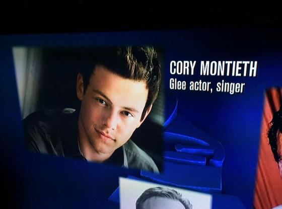 Cory Monteith, Grammys Obit